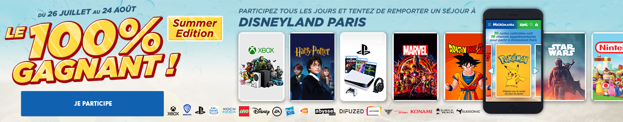 Jeu concours 100% gagnant Summer Edition